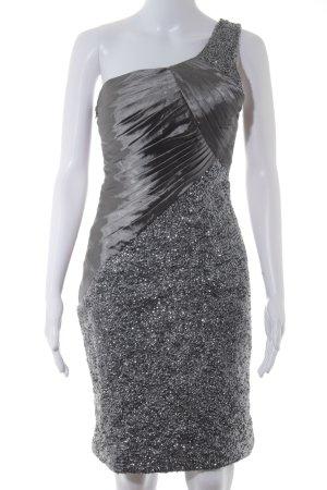 Magic Nights One-Shoulder-Kleid grau-silberfarben Party-Look