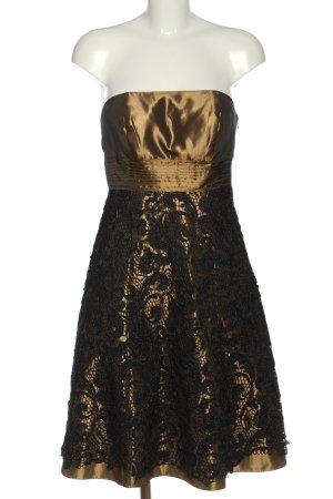 Magic Nights schulterfreies Kleid bronzefarben-schwarz Elegant