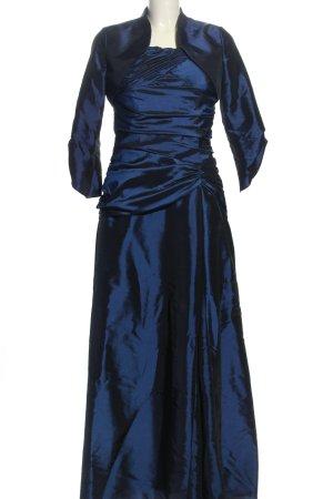 Magic Nights Podwójny zestaw ze splotu siatka niebieski Elegancki