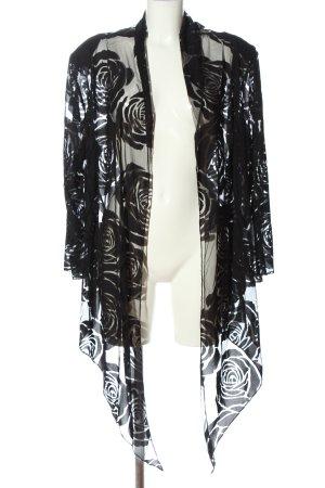 Magna Blouse Jacket black flower pattern elegant