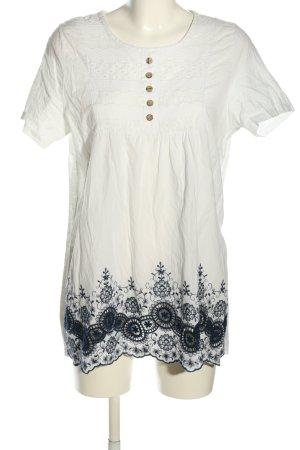 Magnifique Long Blouse white-blue casual look