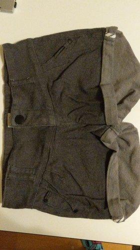 magwear Pantalón corto de tela vaquera gris-gris oscuro