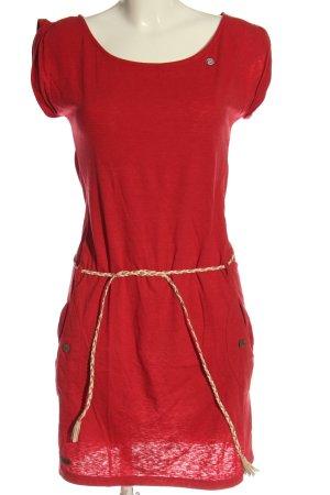 magwear T-shirt jurk rood casual uitstraling