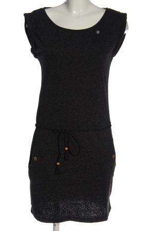 magwear Vestido de tela de sudadera negro moteado look casual