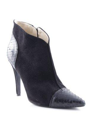 Mai piu senza Ankle Boots schwarz Animalmuster Elegant