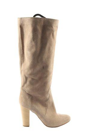 Mai piu senza Wysokie buty na obcasie w kolorze białej wełny W stylu casual