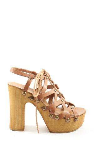 Mai piu senza High Heel Sandaletten braun Casual-Look