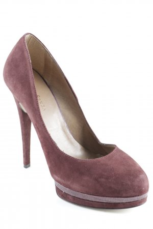 Mai piu senza Peeptoe Pumps braunrot Business-Look