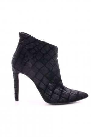 Mai piu senza Reißverschluss-Stiefeletten schwarz schlichter Stil