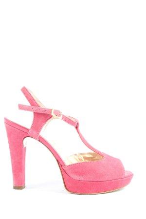 Mai piu senza Sandalias de tacón con barra en T rosa look casual