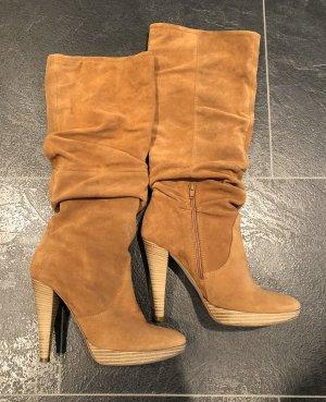 Mai pui senza Stiefel braun high heel