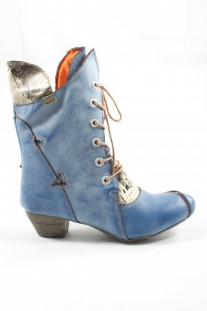 maia Lace-up Boots blue casual look