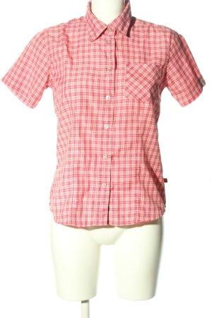 Maier Sports Camicia a scacchi rosso-bianco stampa integrale stile casual