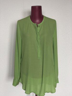 Maigrüne Bluse | Lange Bluse | Gr. 36