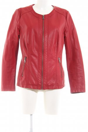 MAINPOL Faux Leather Jacket red casual look