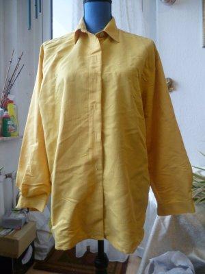 Maisgelbe Bluse von CECIL Gr. 40, Zierknöpfe hinten