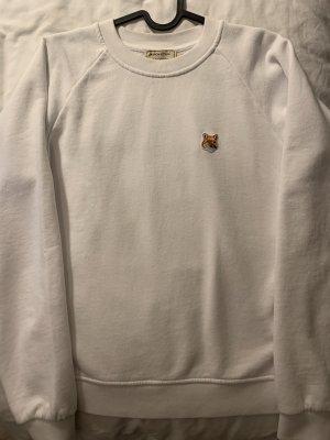 Maison Kitsuné Fox Patch Sweatshirt in weiß