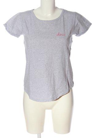 Maison Labiche Print-Shirt hellgrau-pink meliert Casual-Look