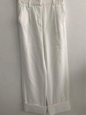 Mm6 By Maison Margiela Pantalon Marlene blanc cassé viscose