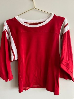Mm6 By Maison Margiela Koszulka rugby biały-czerwony