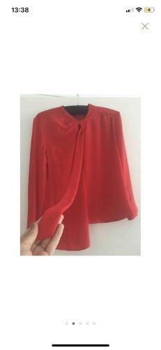 Maison Martin Margiela Bluse rot 40 asymmetrisch edel klassisch blouse