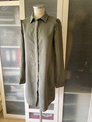 Maison Martin Margiela Vestido camisero marrón grisáceo