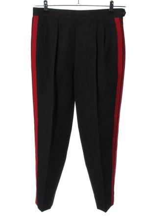 Maison Martin Margiela Spodnie z zakładkami czarny-czerwony W stylu casual