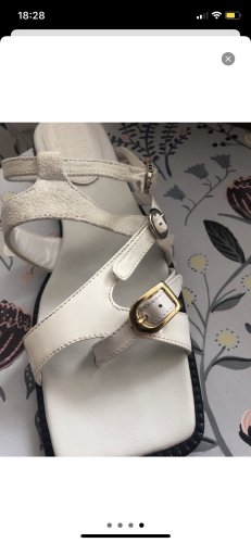 Maison Martin Margiela Flats  Leder weiß 37 asymetric Schnalle hypebeast streetwear 37 Sandals