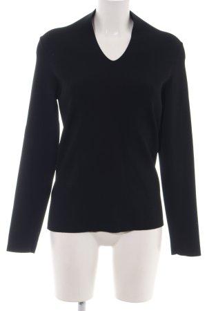 Maison Martin Margiela V-Ausschnitt-Pullover schwarz Business-Look