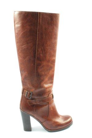 Maison Martin Margiela Wide Calf Boots brown elegant