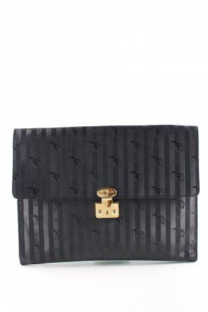 Maison Mollerus Briefcase black-gold-colored striped pattern casual look