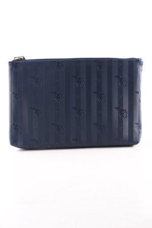 Maison Mollerus Clutch blau Motivdruck Casual-Look