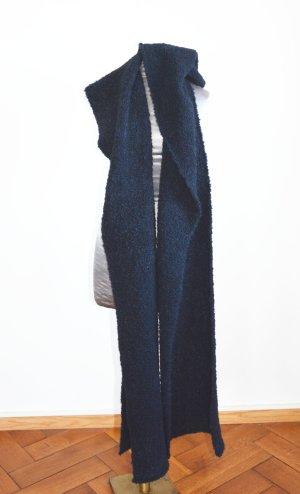 Écharpe en cachemire bleu foncé cachemire