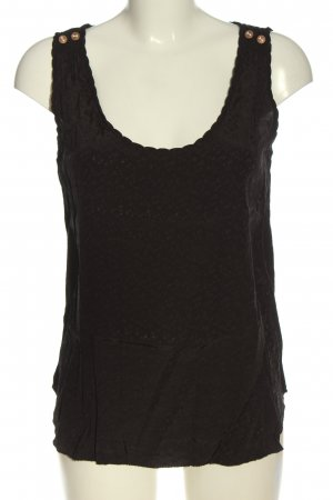 Maison Scotch ärmellose Bluse braun Motivdruck Casual-Look