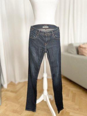 Maison Scotch Skinny Jeans blue-dark blue cotton