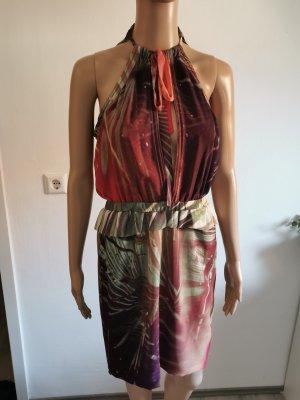Maison Scotch Sukienka z baskinką jasnozielony-purpurowy
