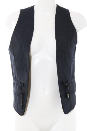 Maison Scotch Anzugweste blau Streifenmuster Business-Look