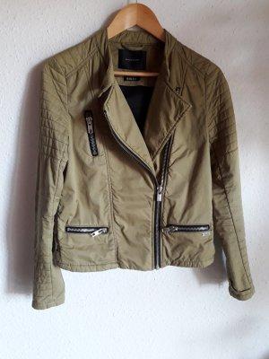 Maison Scotch Biker Jacket green grey