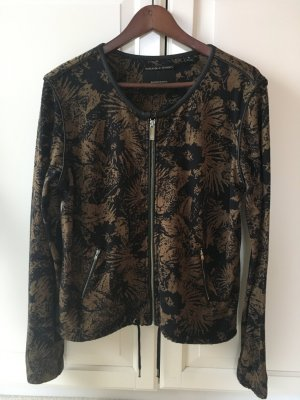 Maison Scotch Blouson-Jacke mit Animal/Blumenprint in khaki/schwarz