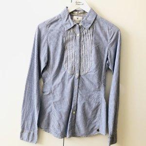 Maison Scotch Bluse Gr 34 Blau weiß gestreift langarm
