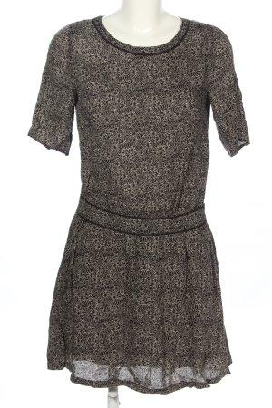 Maison Scotch Blusenkleid schwarz-creme Allover-Druck Casual-Look