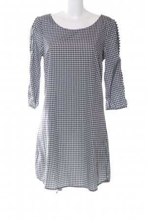 Maison Scotch Blusenkleid schwarz-weiß Allover-Druck Business-Look