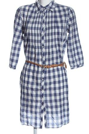 Maison Scotch Blusenkleid weiß-lila Allover-Druck Elegant