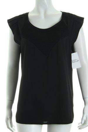 Maison Scotch Blouse topje zwart zakelijke stijl