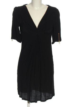 Maison Scotch Szyfonowa sukienka czarny W stylu casual