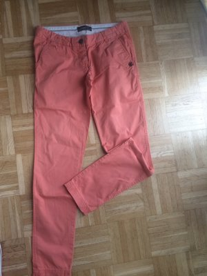 Maison Scotch Chino abrikoos-zalm