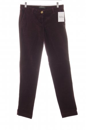 Maison Scotch Cordhose brombeerrot Casual-Look