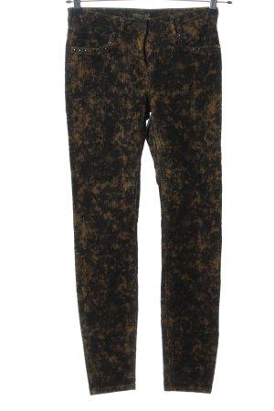 Maison Scotch Pantalón de pana negro-naranja claro look casual
