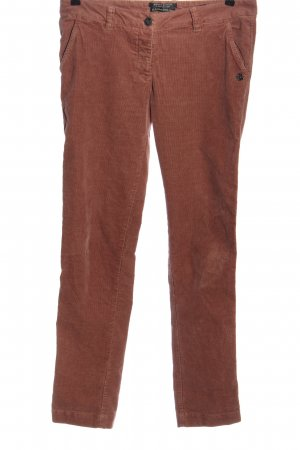 Maison Scotch Pantalón de pana rojo look casual