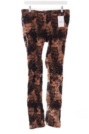 Maison Scotch Corduroy broek zwart-stoffig roze bloemen patroon